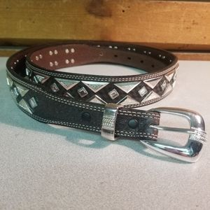 Roper Silver Accent Leather Belt